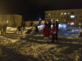 Поисково-спасательные работы в Кировске после схода лавины.