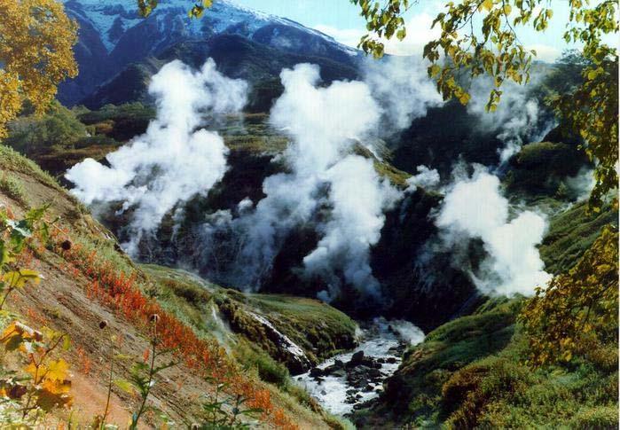 Долина гейзеров на Камчатке.