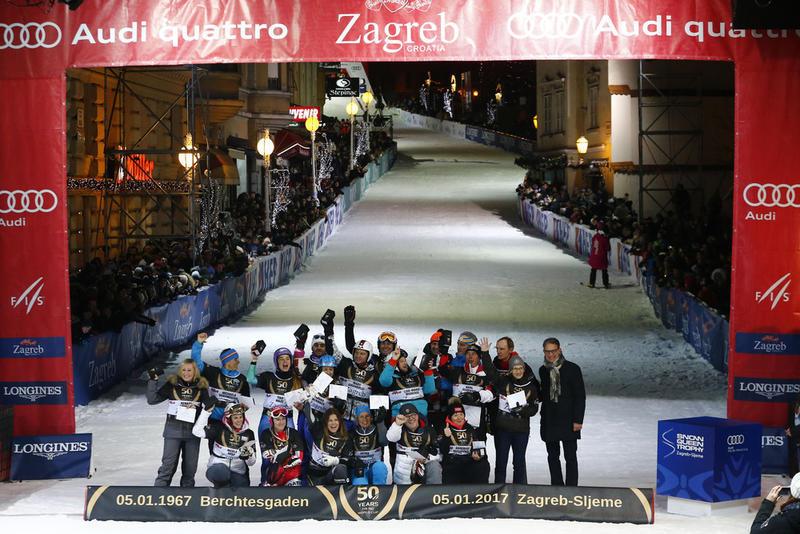 18 победителей ночного исторического слалома в Загребе