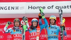 Podium Slalom Wengen
