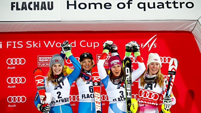 Snow Space Flachau 2017 podium