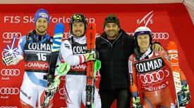 Победители этапа и Альберто Томба.