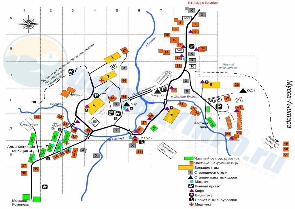 Dombai-map