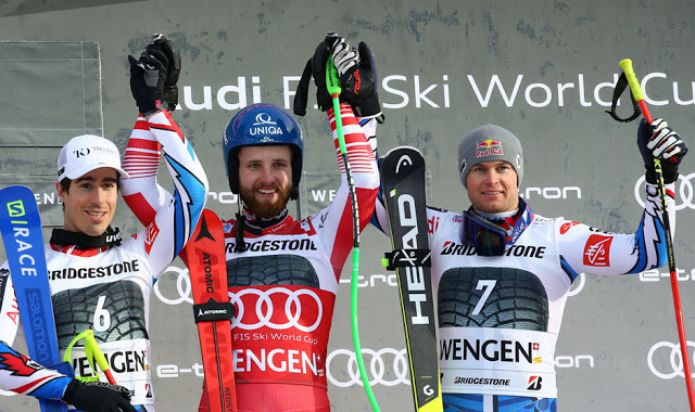 Marco Schwarz Wins Alpine Combined in Wengen
