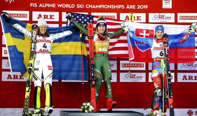 Are Ladies Slalom Shiffrin LARSSON Vlhova