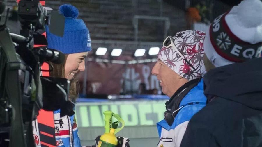 Петра Влхова со своим бывшим тренером Ливио Магони