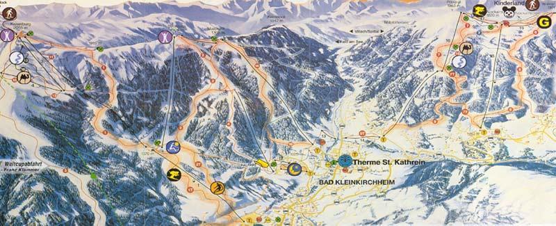 Схема трасс горнолыжного курорта Бад-Кляйнкирххайм