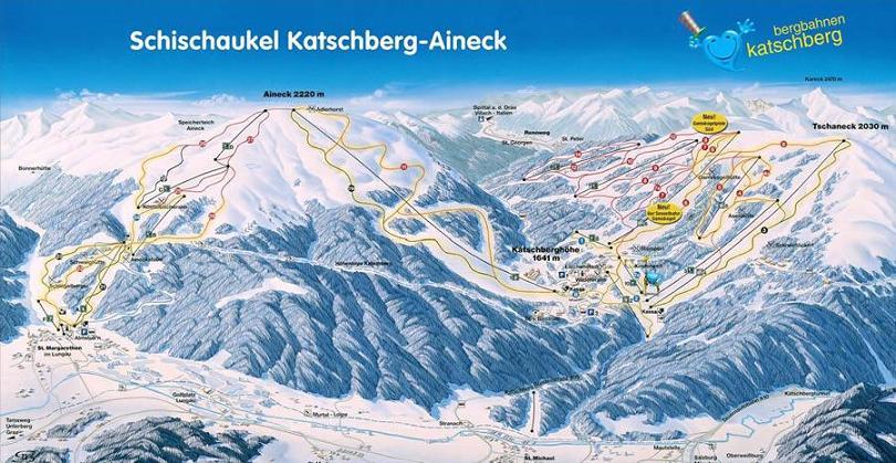 Схема трасс горнолыжного курорта Качберг