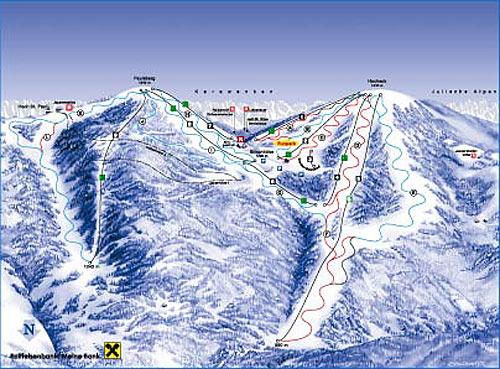 Схема трасс горнолыжного курорта Симонхох