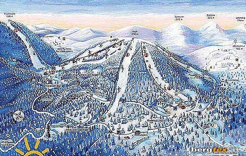 Схема трасс горнолыжного курорта Сирнитц-Альбек-Хохриндл