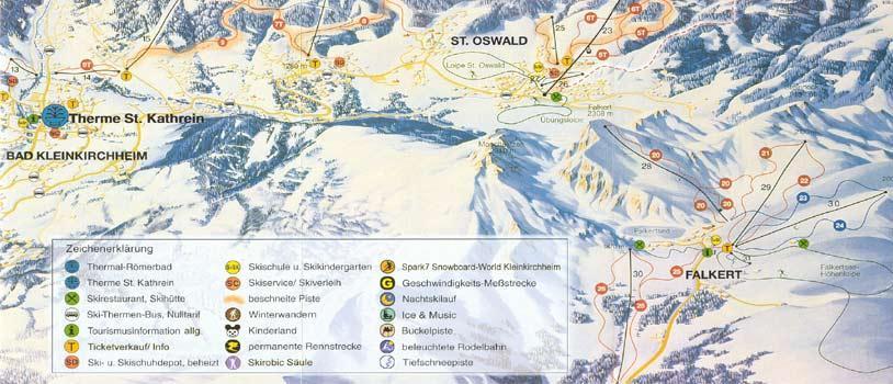 Схема трасс горнолыжного курорта Фалькерт