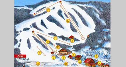 Схема трасс горнолыжного курорта Вайнебене