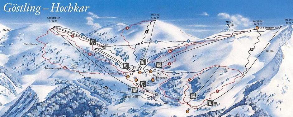 Схема трасс горнолыжного курорта Хохкар