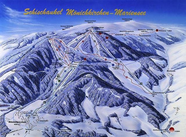 Схема трасс горнолыжного курорта Моенкирхе-Мариензее