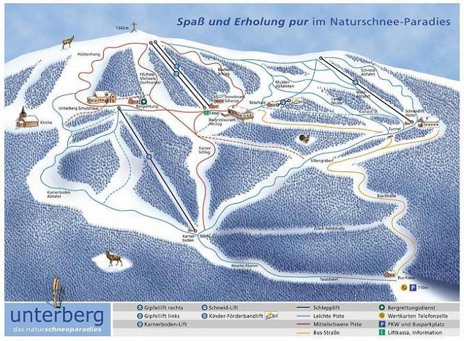 Схема трасс горнолыжного курорта Муггендорф