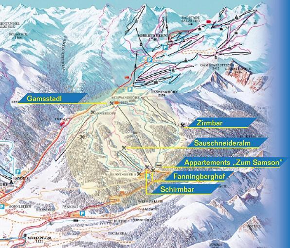 Схема трасс горнолыжного курорта Фаннингберг