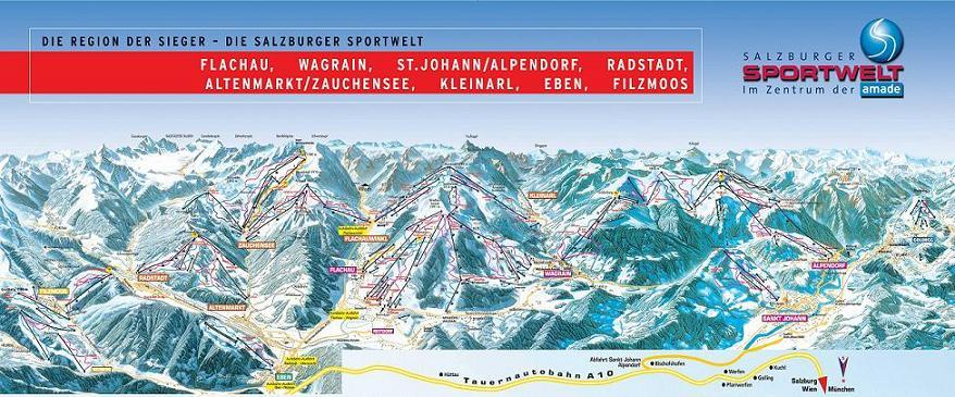 Схема трасс горнолыжного курорта Фильцмос-Науберг