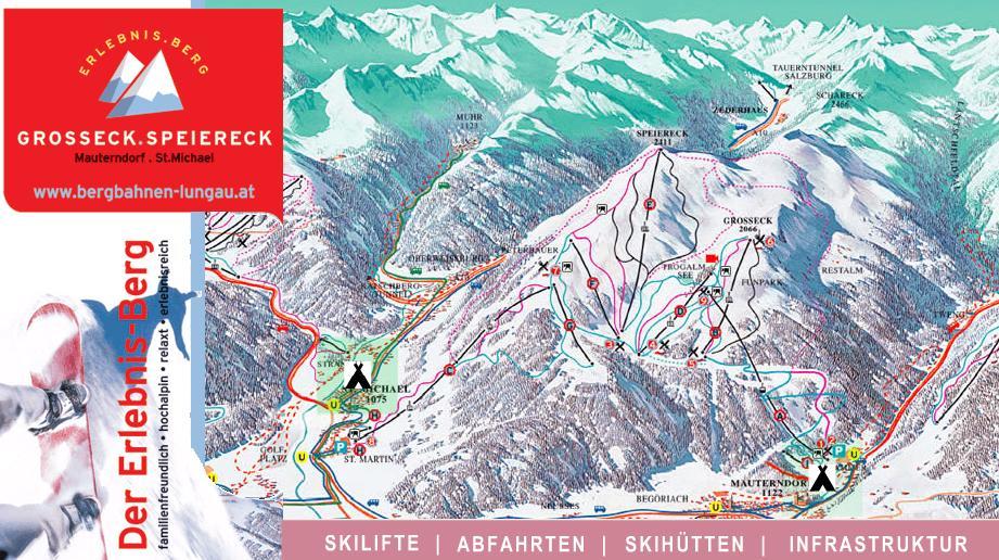 Схема трасс горнолыжного курорта Гроссек-Шпайерек
