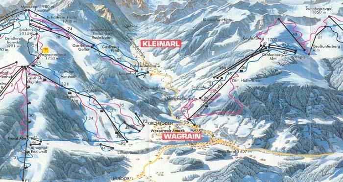 Схема трасс горнолыжного курорта Ваграйне