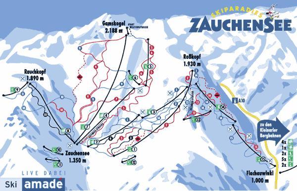 Схема трасс горнолыжного курорта Заухензее