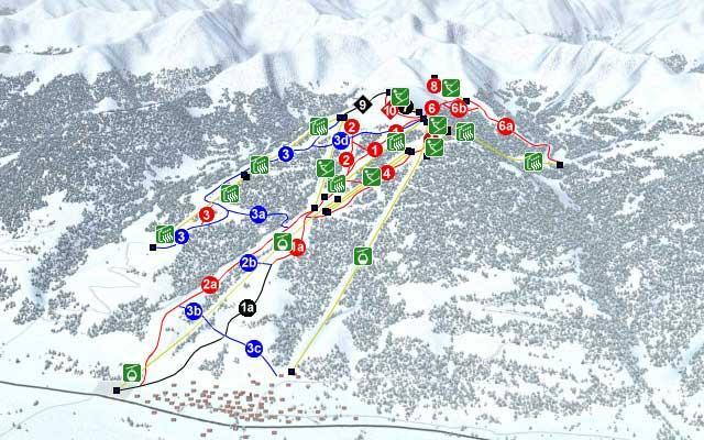 Схема трасс горнолыжного курорта Хаузер-Кайблинг-Хаус-Им-Энсталь)
