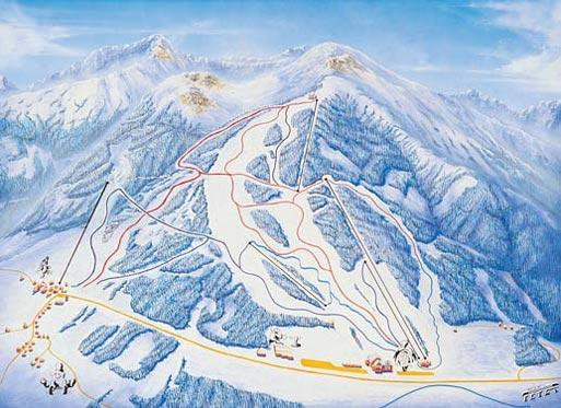 Схема трасс горнолыжного курорта Хоэнтауэрн