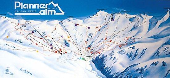 Схема трасс горнолыжного курорта Планнеральм