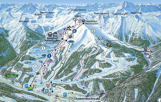 Схема трасс горнолыжного курорта Ризнеральм