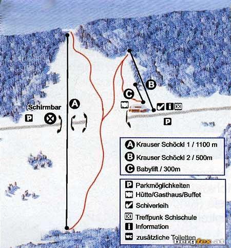 Схема трасс горнолыжного курорта Венигцелля