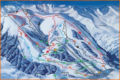 Схема трасс горнолыжного курорта Ахензее-Кристлум