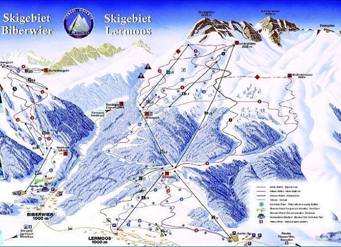 Схема трасс горнолыжного курорта Бибервир-Мариенберг