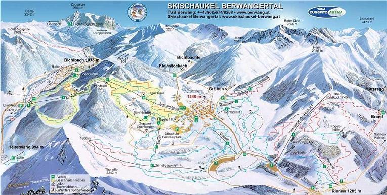 Схема трасс горнолыжного курорта Бихльбах
