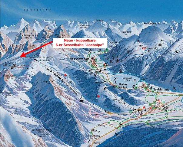 Схема трасс горнолыжного курорта Гран