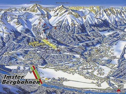 Схема трасс горнолыжного курорта Имст