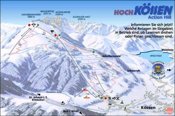 Схема трасс горнолыжного курорта Хохкёссен