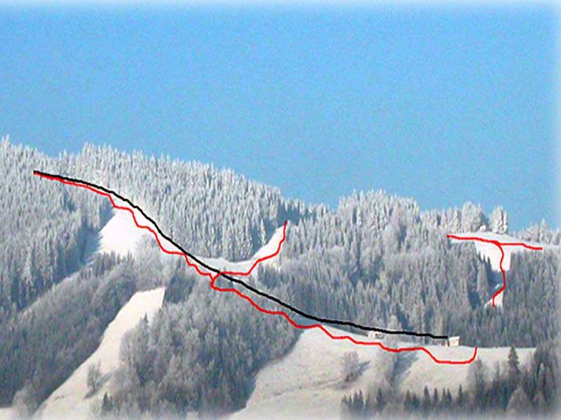Схема трасс горнолыжного курорта Глайзенберг-Мария-Нойштифт