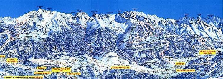 Схема трасс горнолыжного курорта Хинтерстодер
