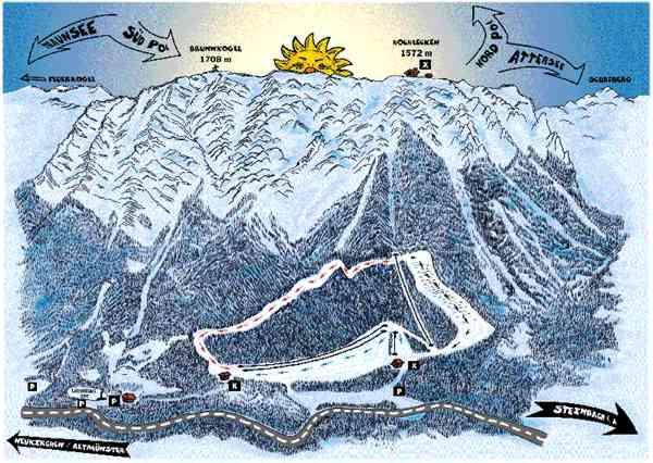 Схема трасс горнолыжного курорта Альтмустер
