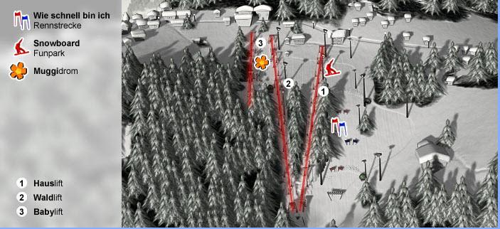 Схема трасс горнолыжного курорта Шилифт-Киршлад