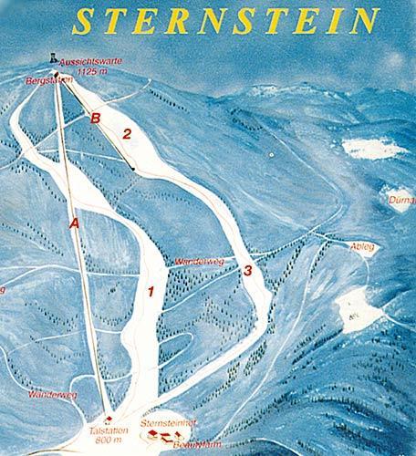 Схема трасс горнолыжного курорта Штернштайн-Лифте