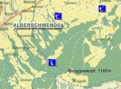 Схема трасс горнолыжного курорта Альбершвенде-Брюгелькопф
