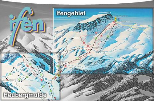 Схема трасс горнолыжного курорта Кляйнвальзерталь-Ифен