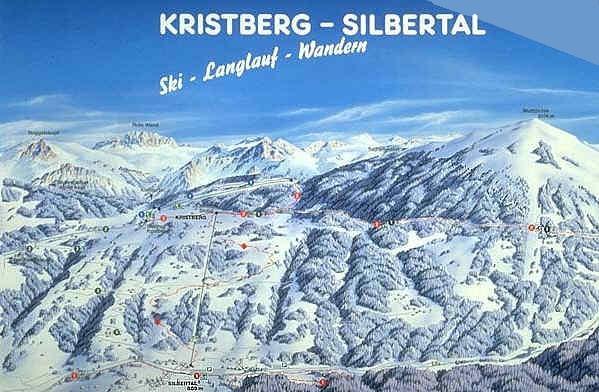 Схема трасс горнолыжного курорта Крайсберг-Зильберталь