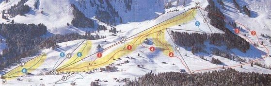 Схема трасс горнолыжного курорта Эгг-Щеттерег