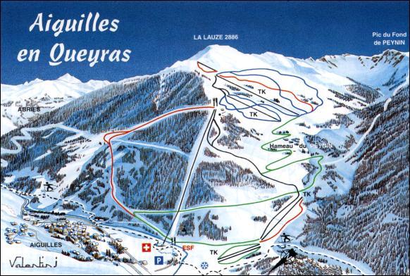 Схема трасс горнолыжного курорта Эгюй