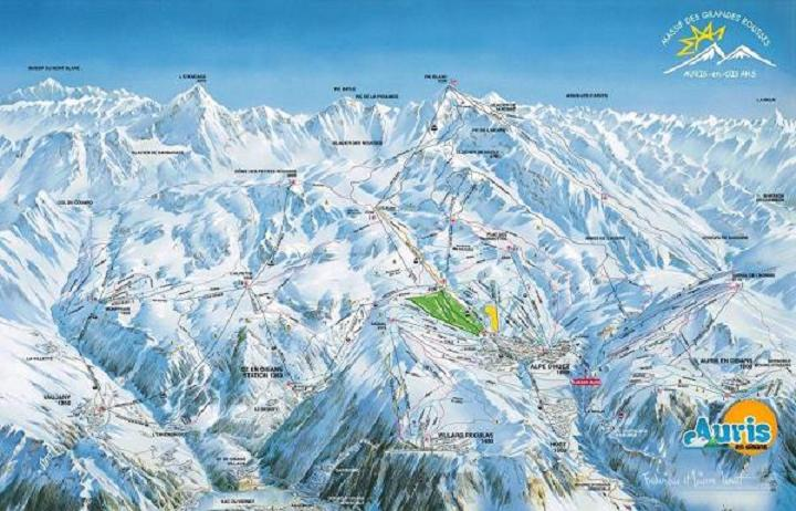 Схема трасс горнолыжного курорта Орис ан уазан