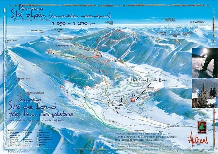 Схема трасс горнолыжного курорта Отран