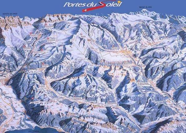 Схема трасс горнолыжного курорта Авориаз