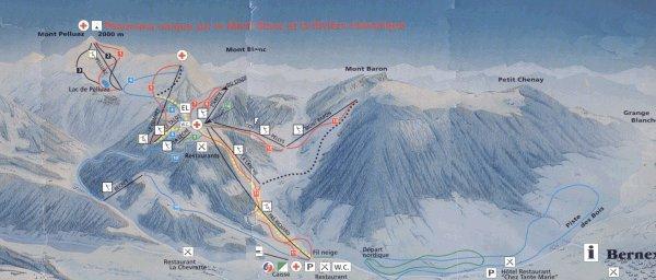 Схема трасс горнолыжного курорта Бернекс