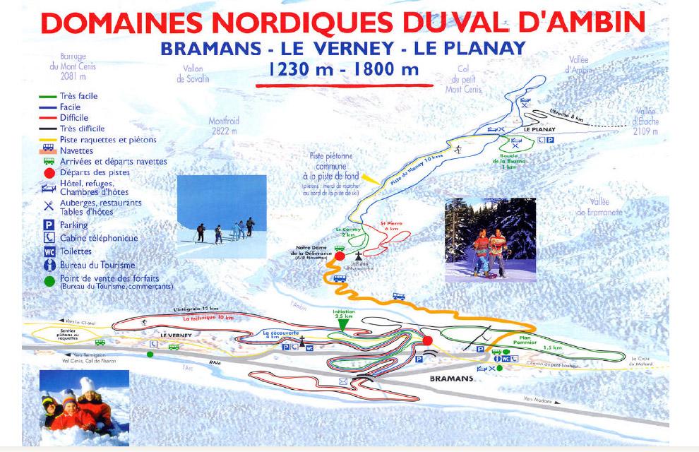 Схема трасс горнолыжного курорта Браман